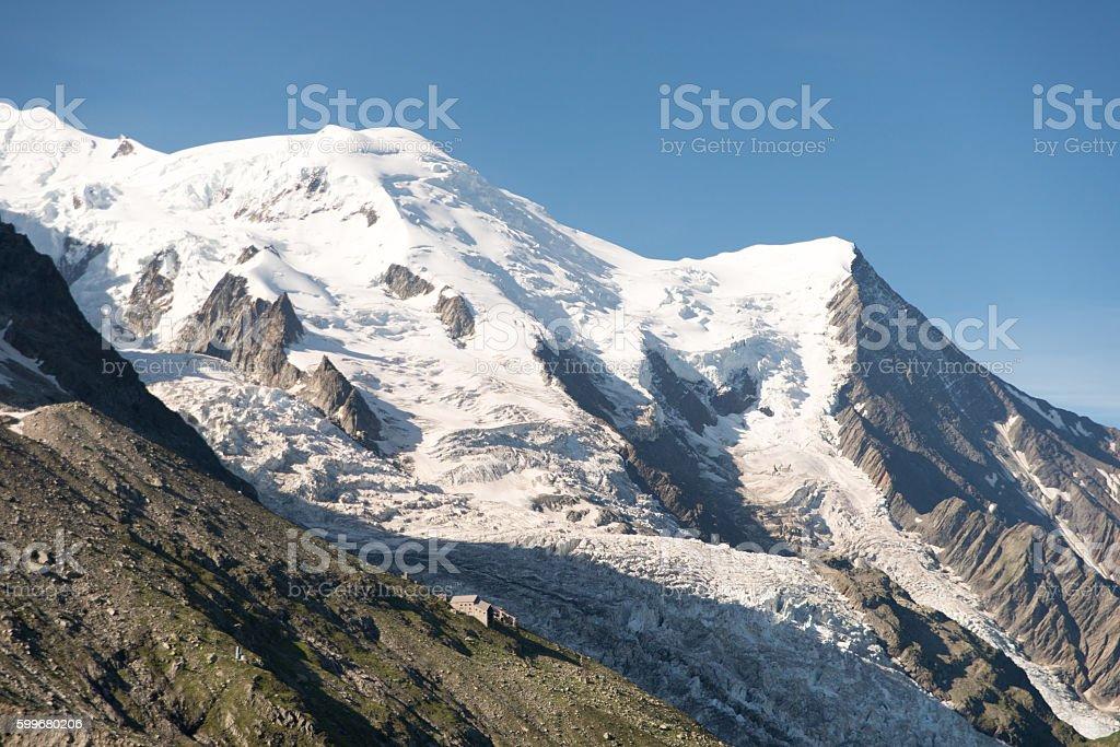 Refuge des Glaciers stock photo