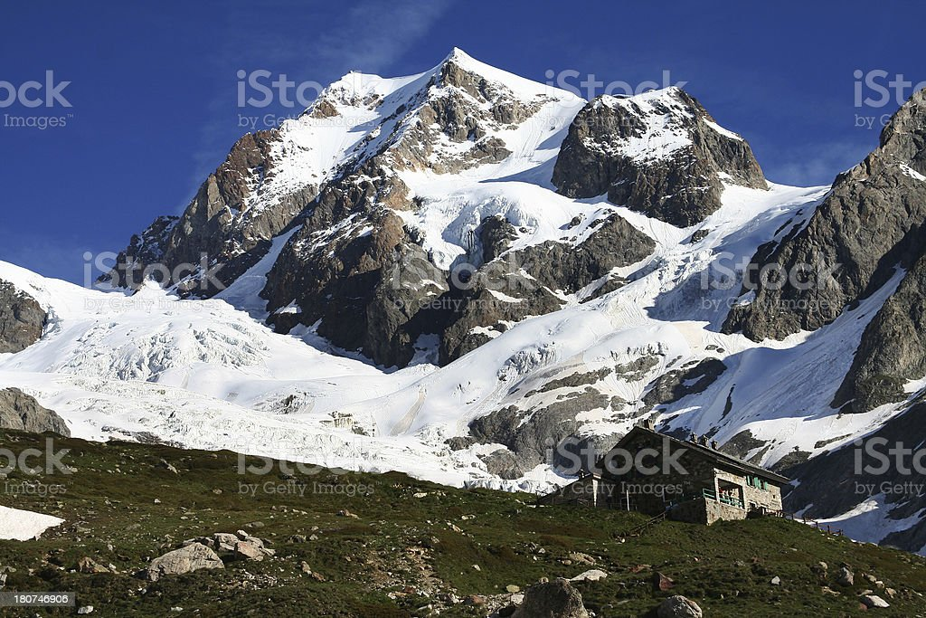 Refuge Elisabetta in Courmayeur, Italy royalty-free stock photo