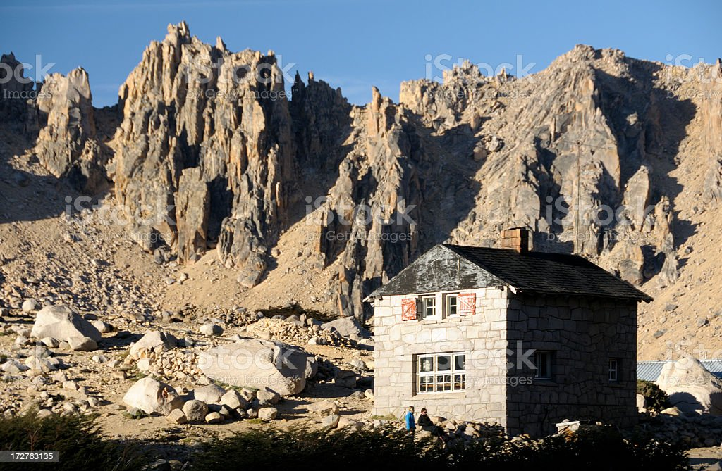 Refuge Frey, Bariloche, Patagonia, Argentina, South America royalty-free stock photo