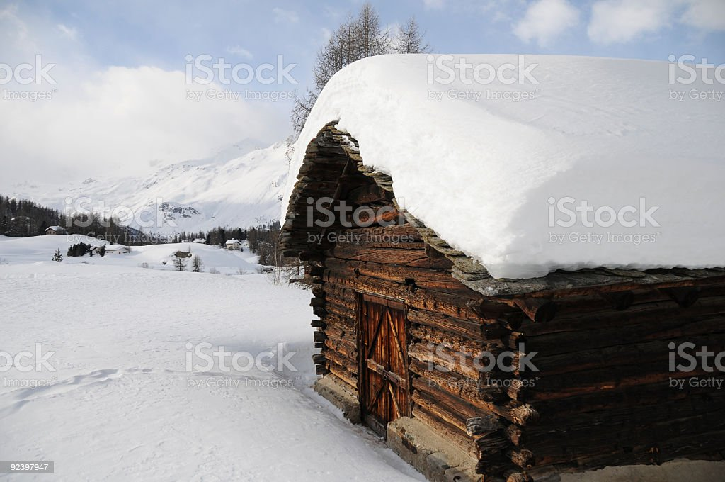 Refuge in the Engadine royalty-free stock photo