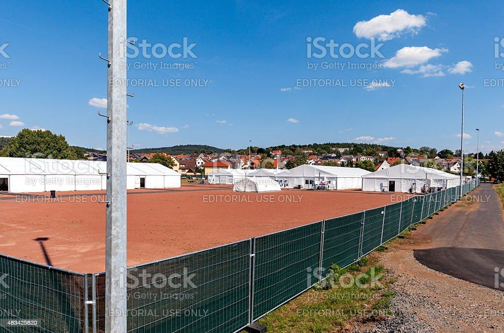 難民キャンプマールブルク ロイヤリティフリーストックフォト
