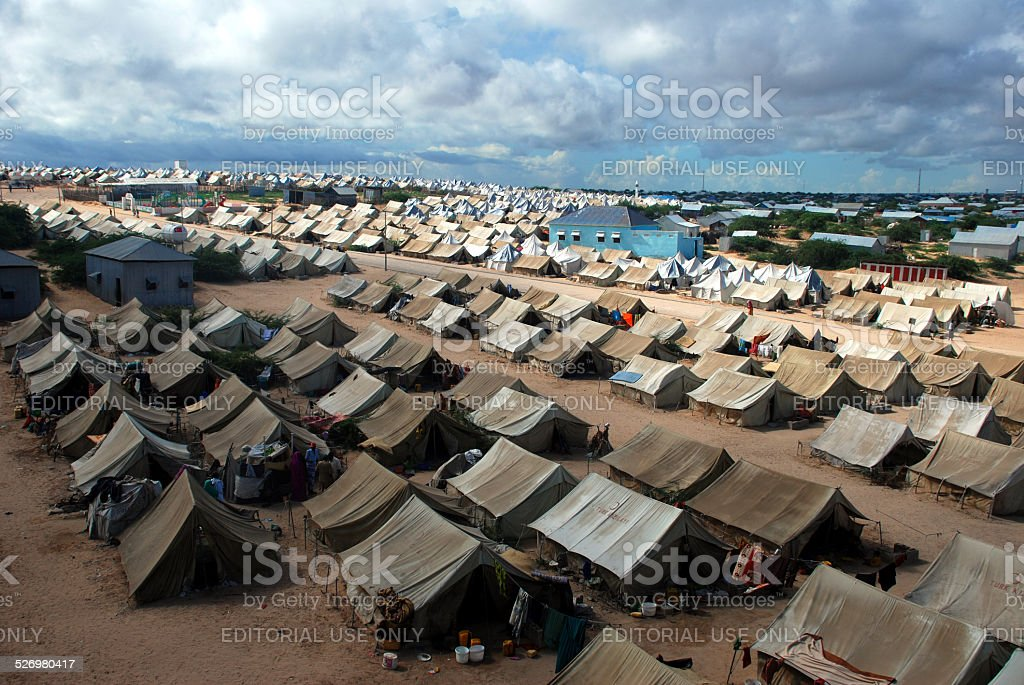 Refugee Camp İn Somalia stock photo