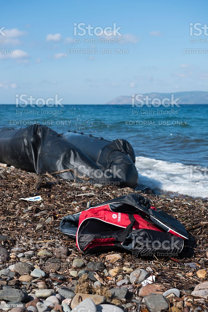 Refugee crisis in Europe stock photo