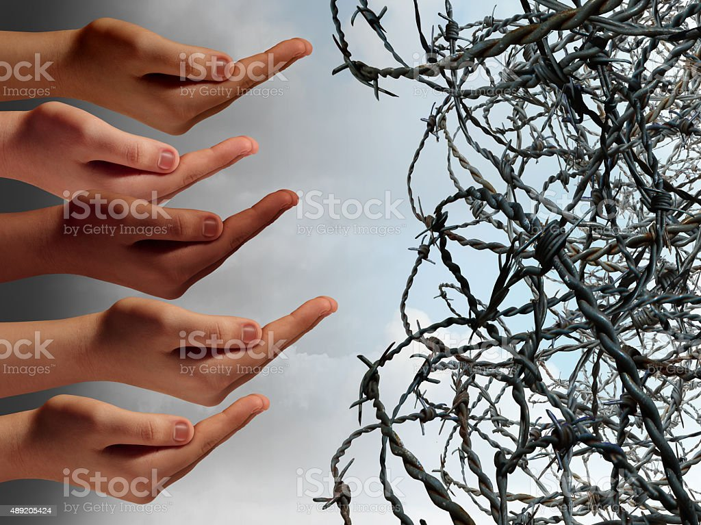 Refugee Crisis stock photo