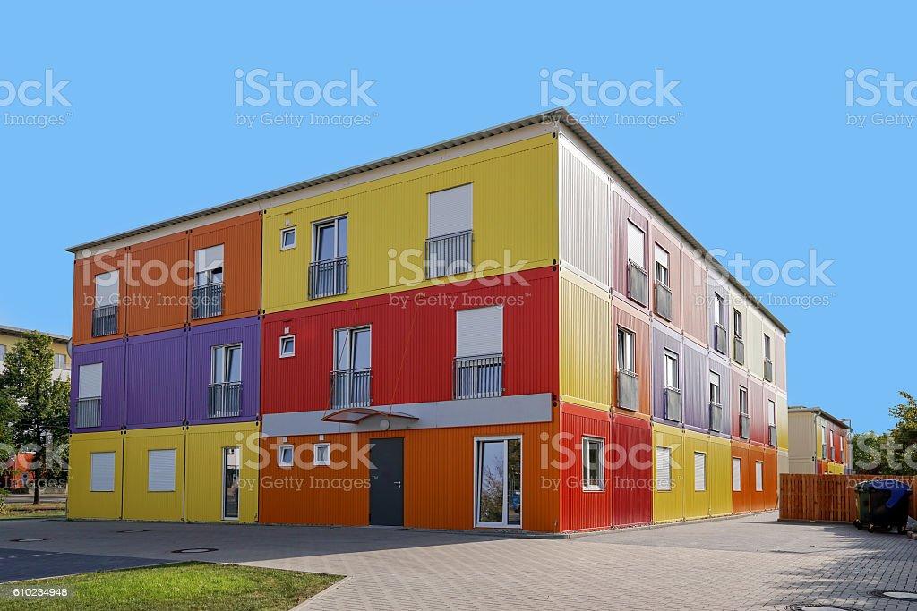 refugee hostel or accommodation stock photo