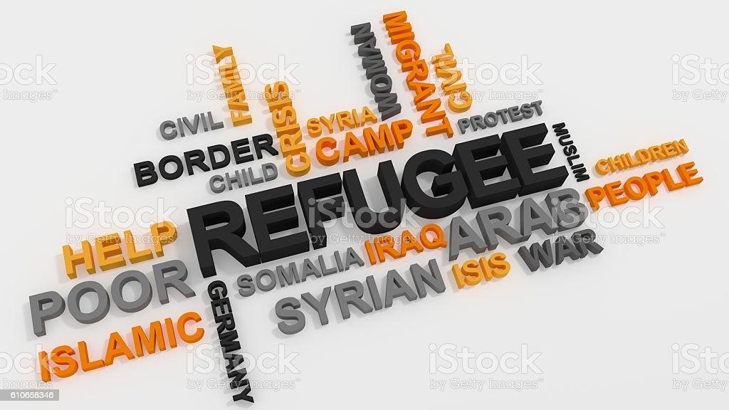 Refugee stock photo