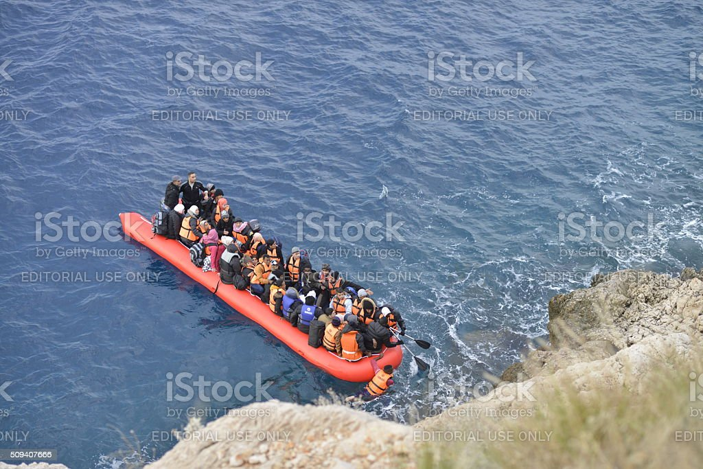 Refugees stock photo