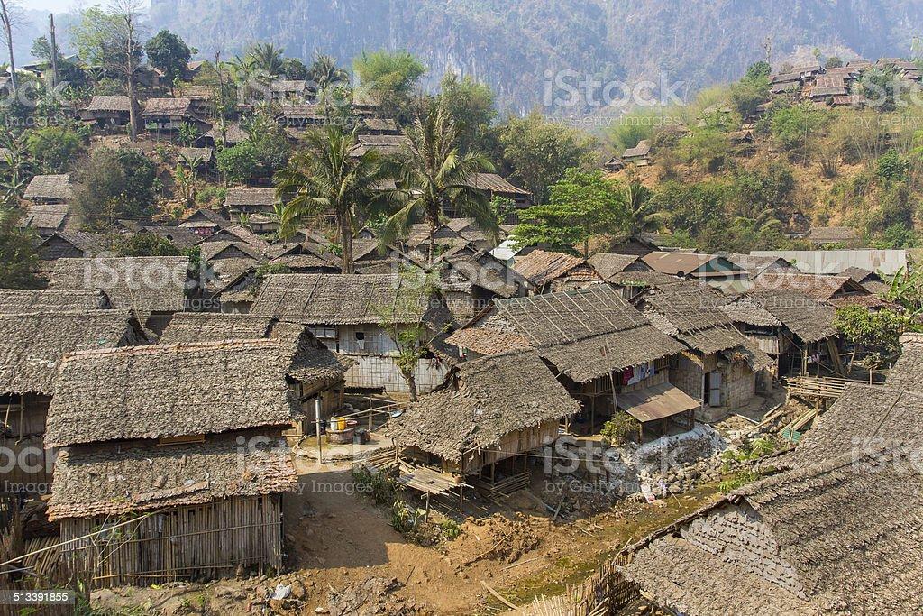 Refugees village stock photo