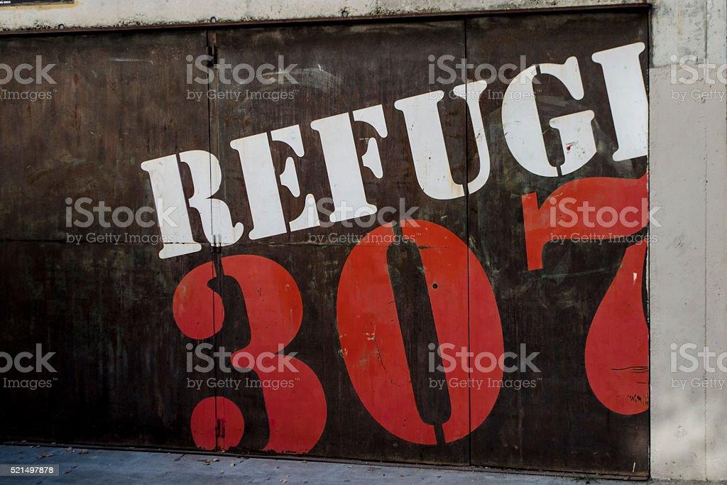 Refugi 307, Barcelona stock photo