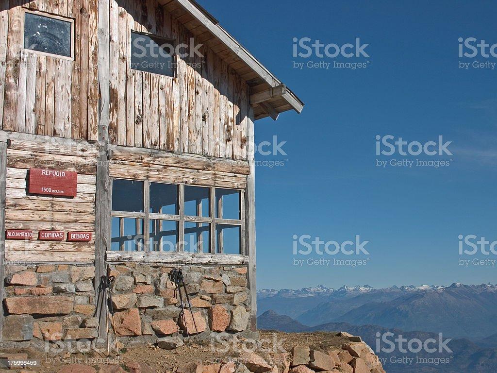 Refugio in Patagonia stock photo