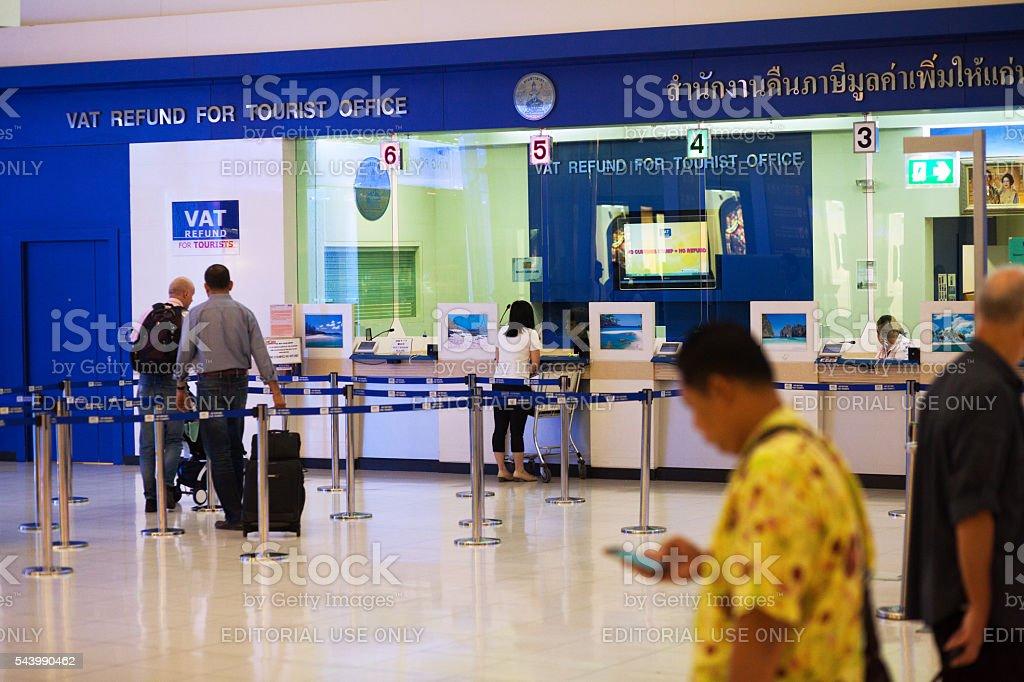 VAT refund office in Survanabhumi stock photo
