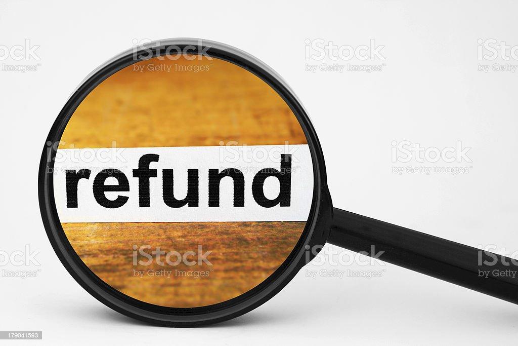 Refund stock photo