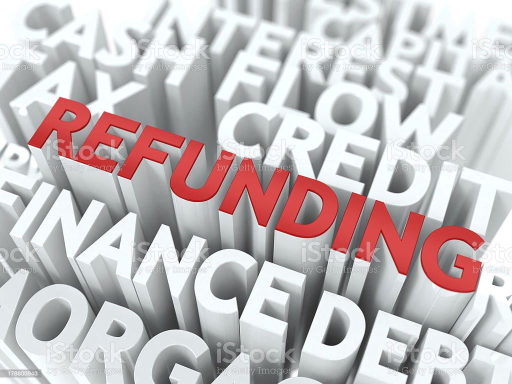 Refunding. The Wordcloud Concept. royalty-free stock photo