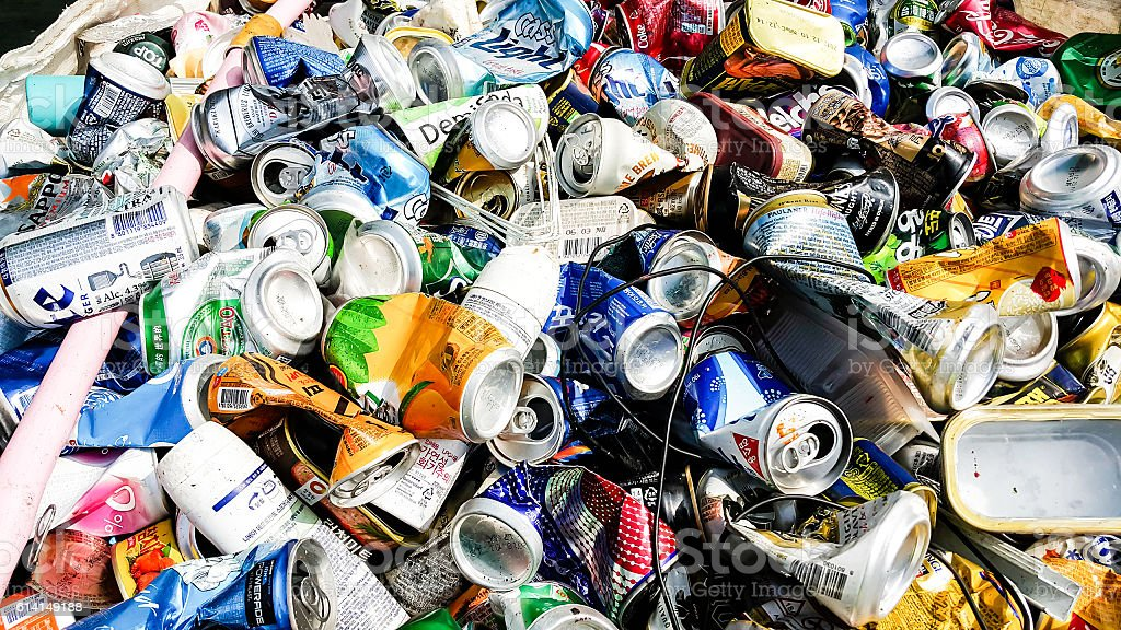 Refused Plastic Waste as biomass fuel stock photo