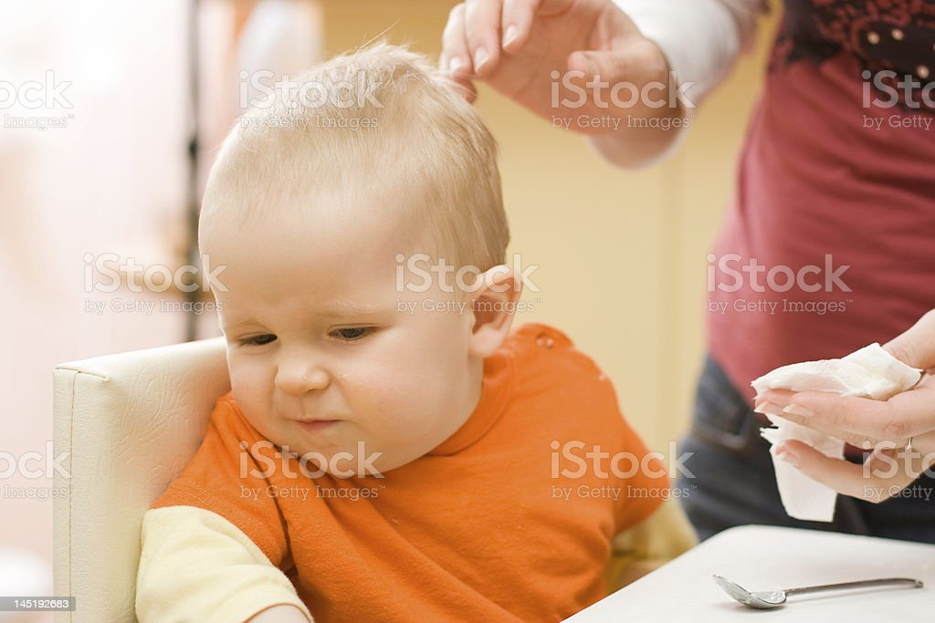 Refusing to be wiped stock photo
