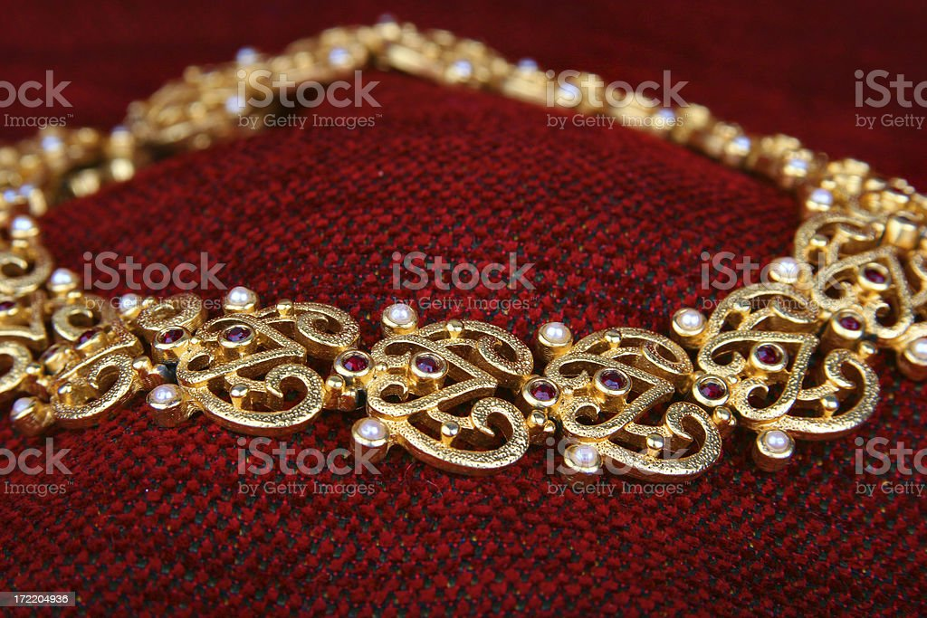 Regal Gold Necklace royalty-free stock photo