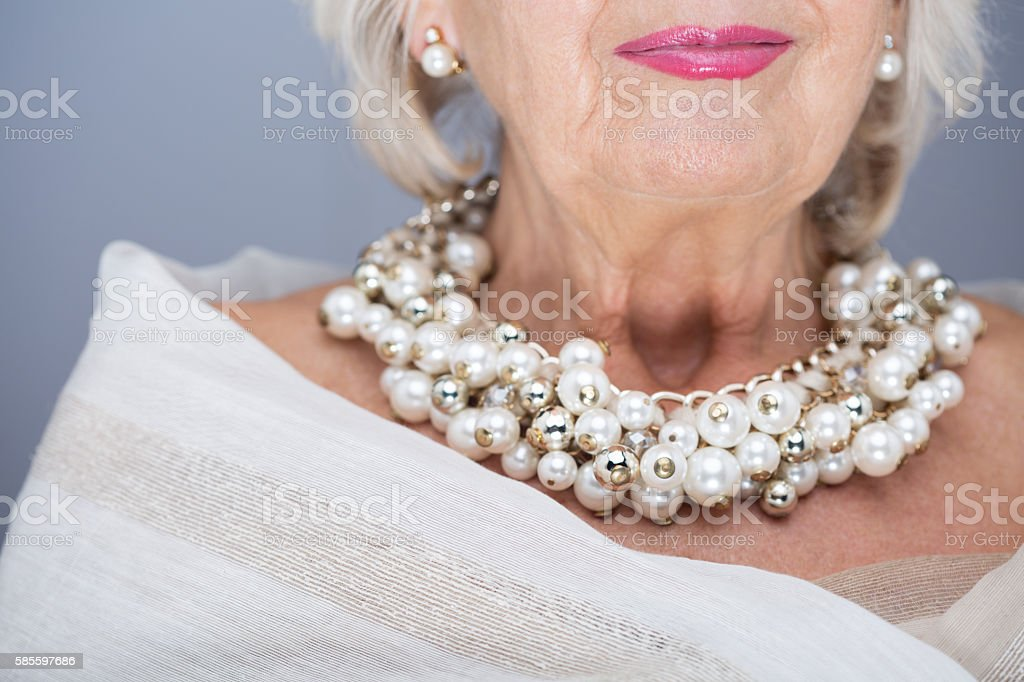 Regal senior beauty stock photo