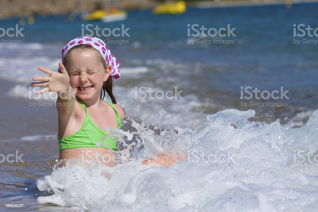 Regards from beach royalty-free stock photo