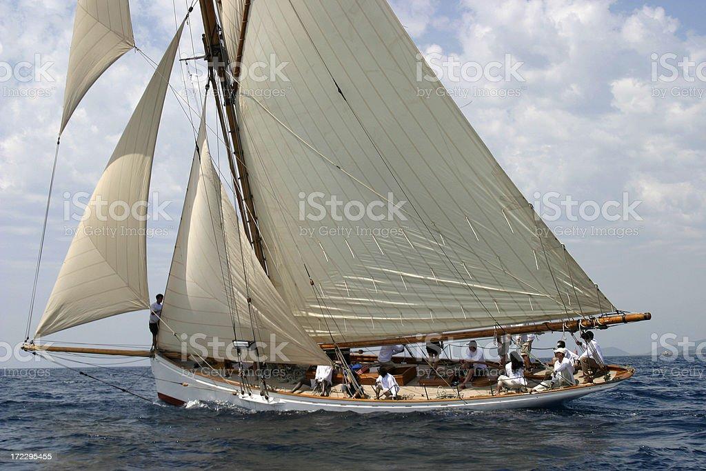 regata Ajaccio (Moonbeam) stock photo