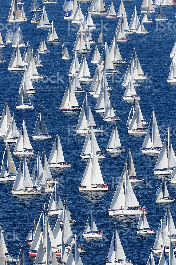 Regatta Barcolana stock photo