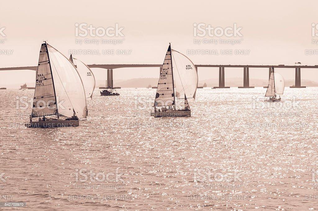 Regatta in Rio de Janeiro - Sailing royalty-free stock photo