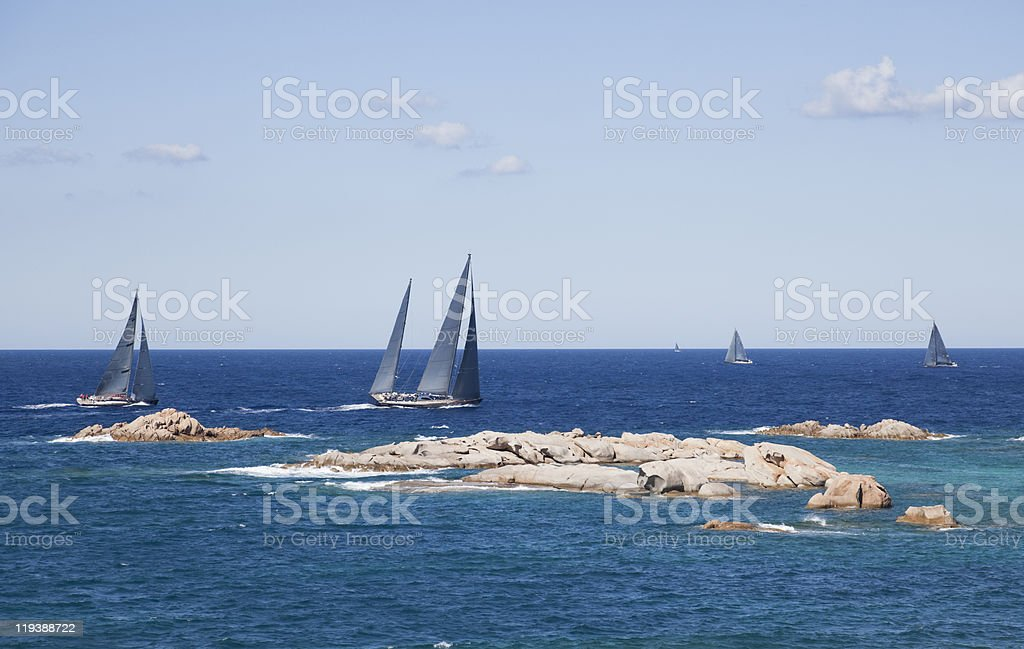 Regatta in Sardinia royalty-free stock photo