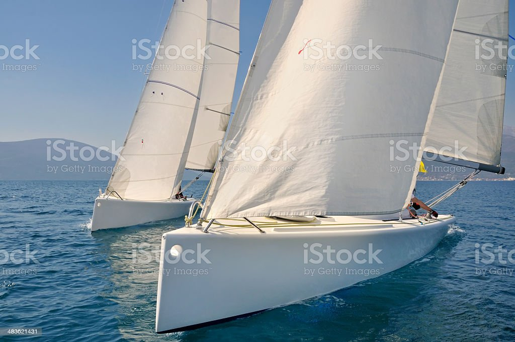 Regatta race stock photo