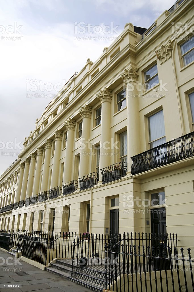 regency architecture brighton seafront england royalty-free stock photo