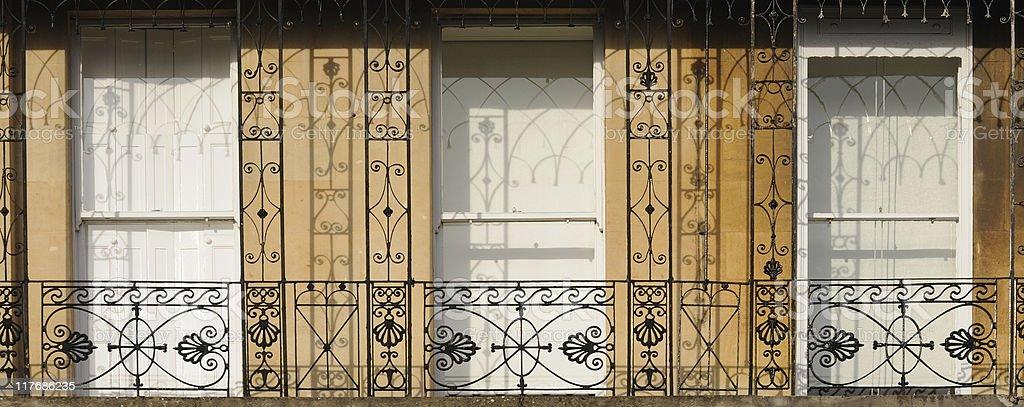 Regency Balcony close-up, Cheltenham stock photo