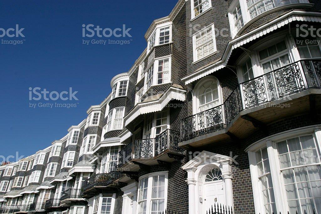 Regency building crescent royalty-free stock photo