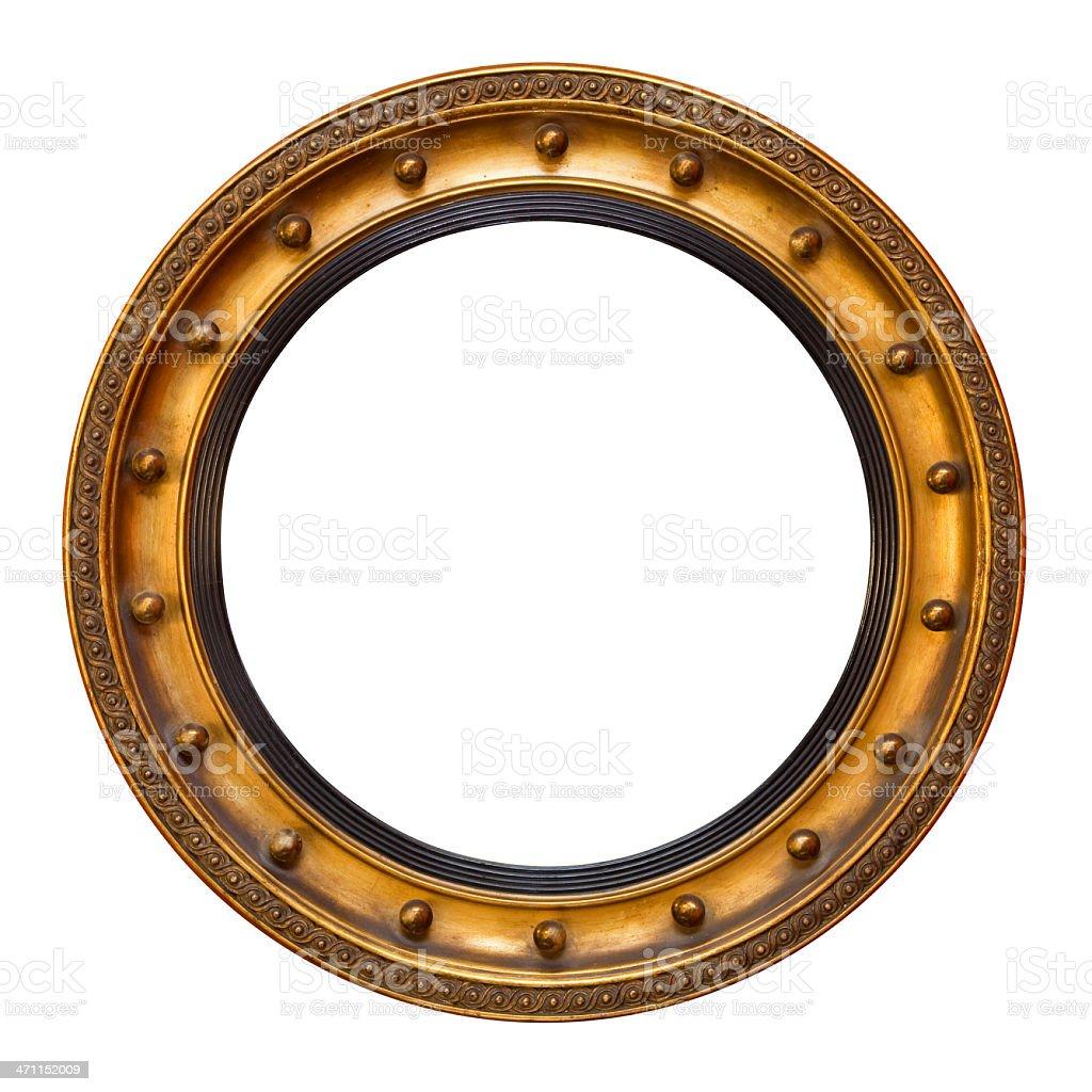 Regency Gilt Circular Frame stock photo