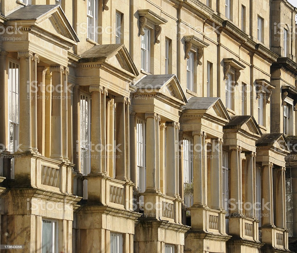 Regency Terrace Detail, Cheltenham royalty-free stock photo