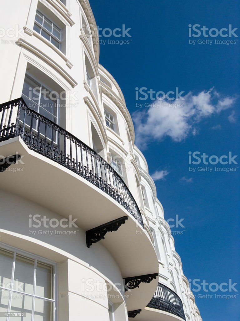 Regency terrace with cloud royalty-free stock photo