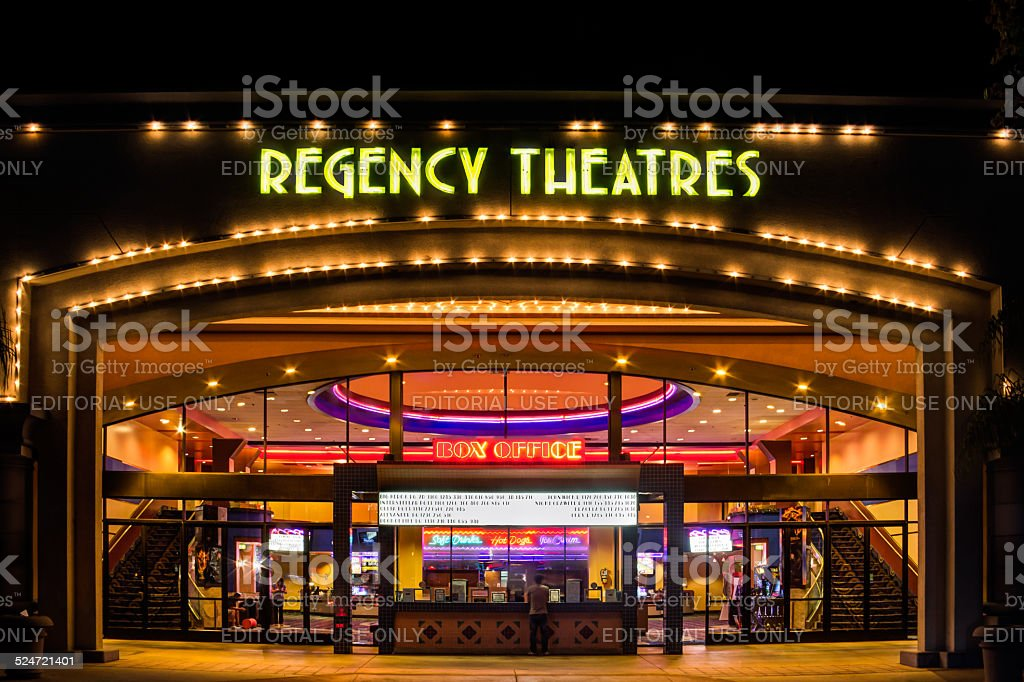 Regency Theaters Exterior stock photo