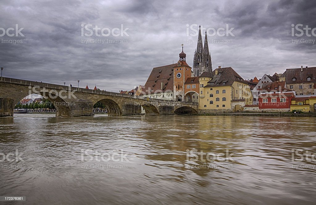 Regensburg embankment royalty-free stock photo
