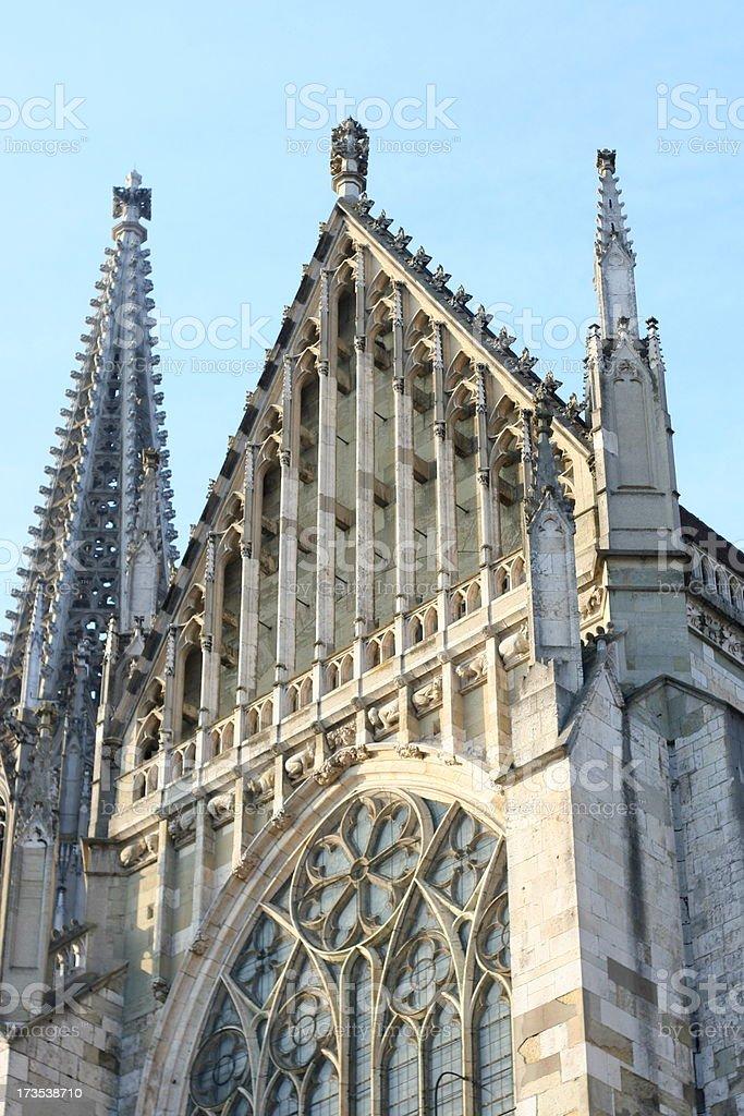 Regensburg, St. Peter church stock photo
