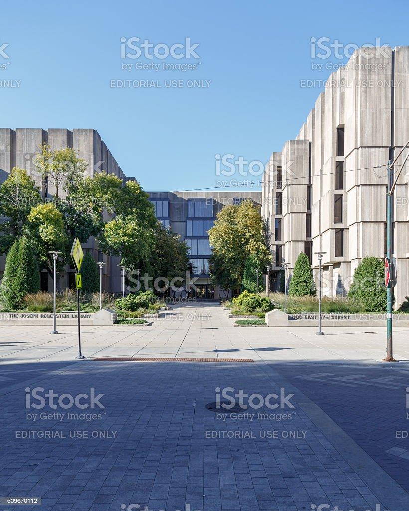 Regenstein Library stock photo
