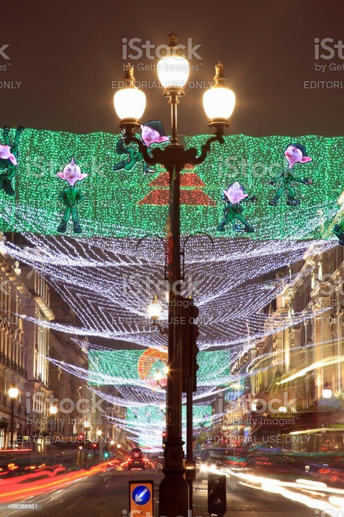Regent Street Christmas Lights Display royalty-free stock photo