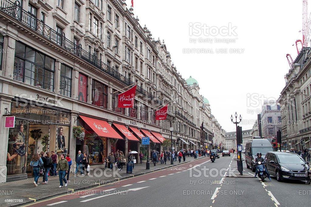 Regent Street in London royalty-free stock photo
