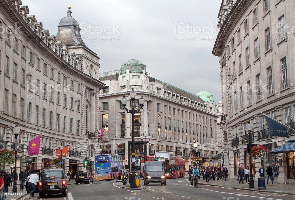Regent Street in London stock photo
