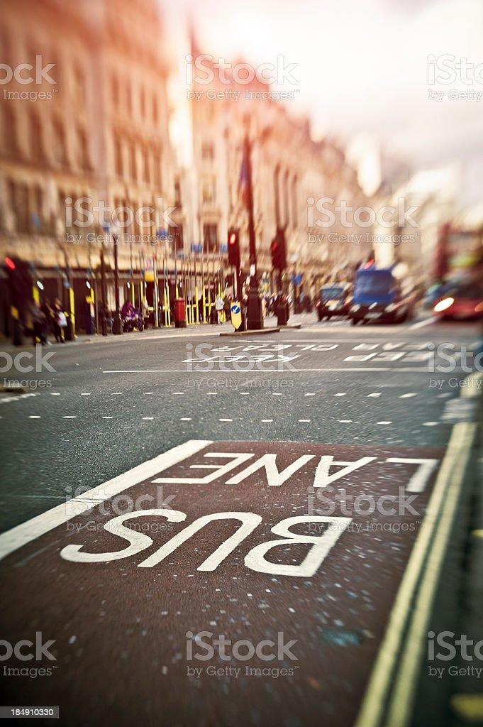 Regent Street In London, Road Sign, UK. stock photo