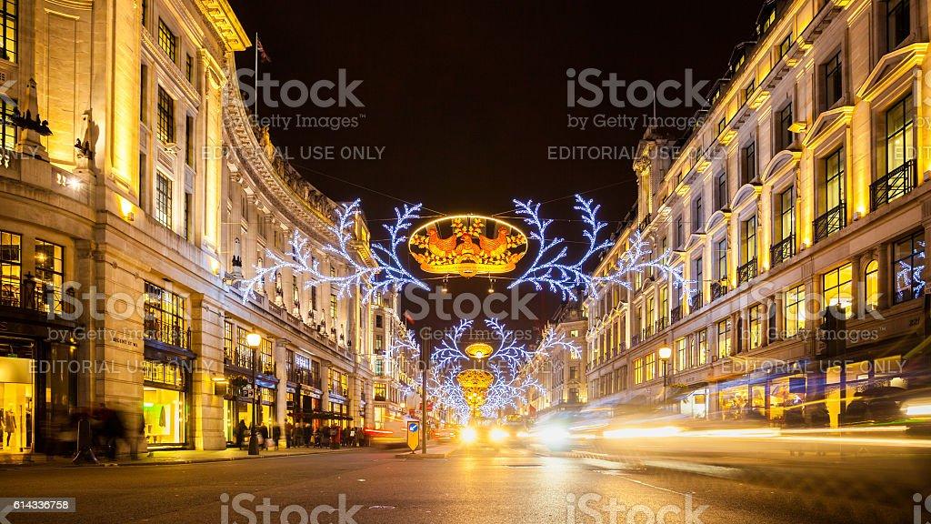 Regent Street in London, UK stock photo