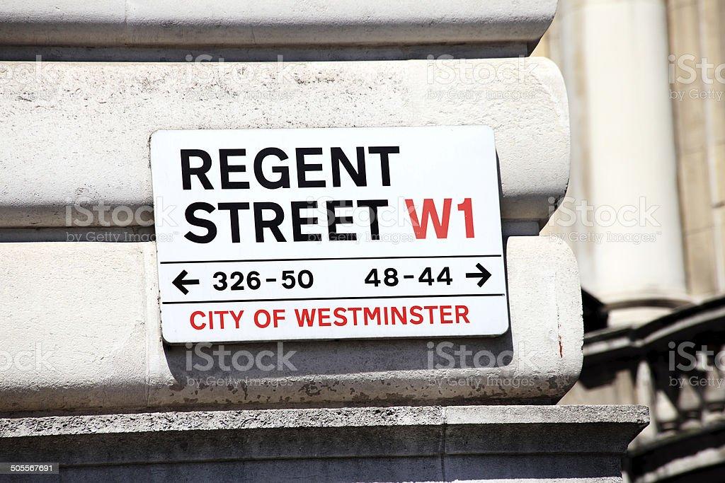 Regent Street Sign stock photo