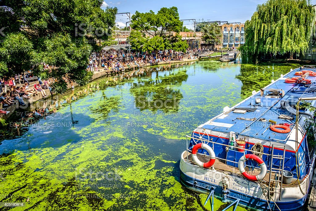 Regents Canal in Camden London stock photo