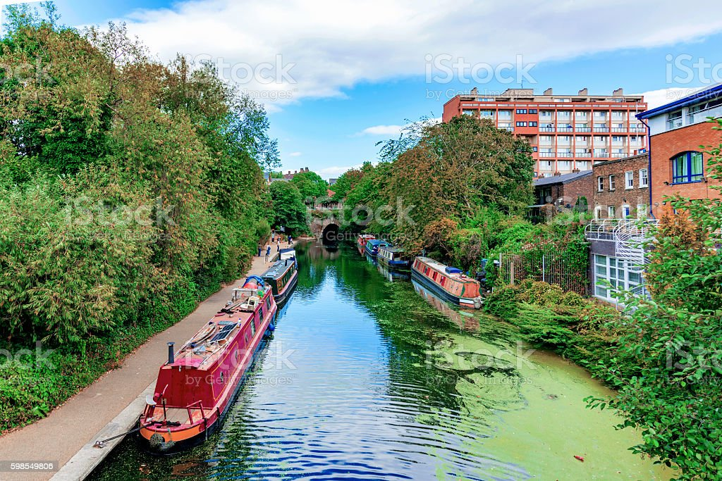Regents canal stock photo