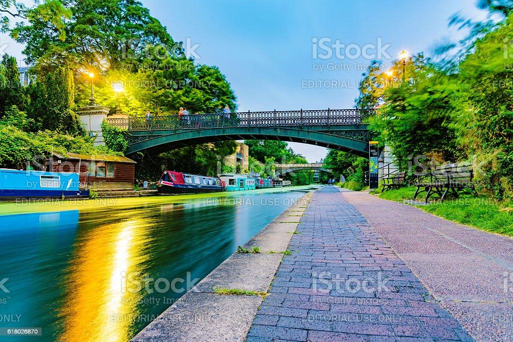 Regents park canal stock photo