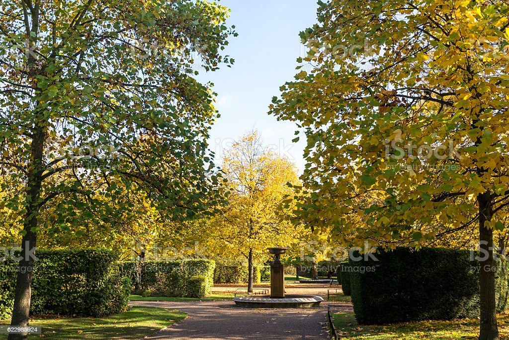 Regent's Park in autumn, London, UK stock photo