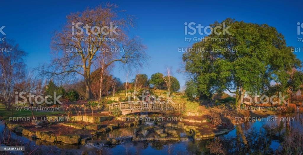 Regents Park panorama stock photo