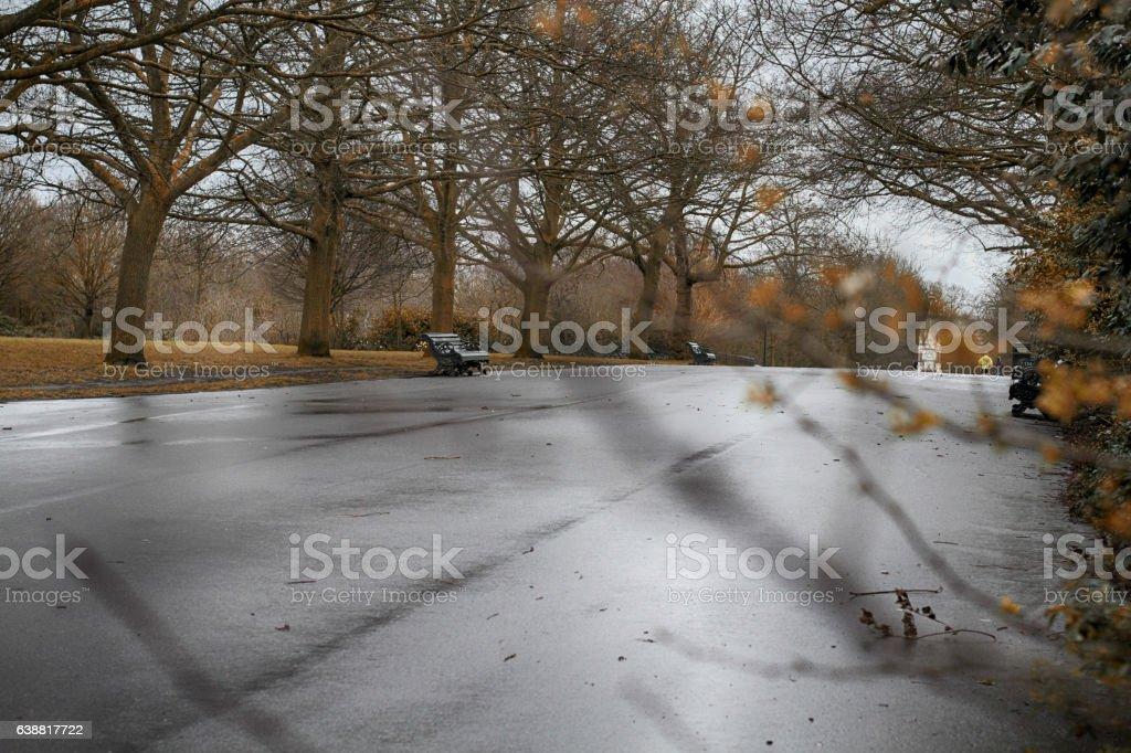 Regents park rainy day stock photo