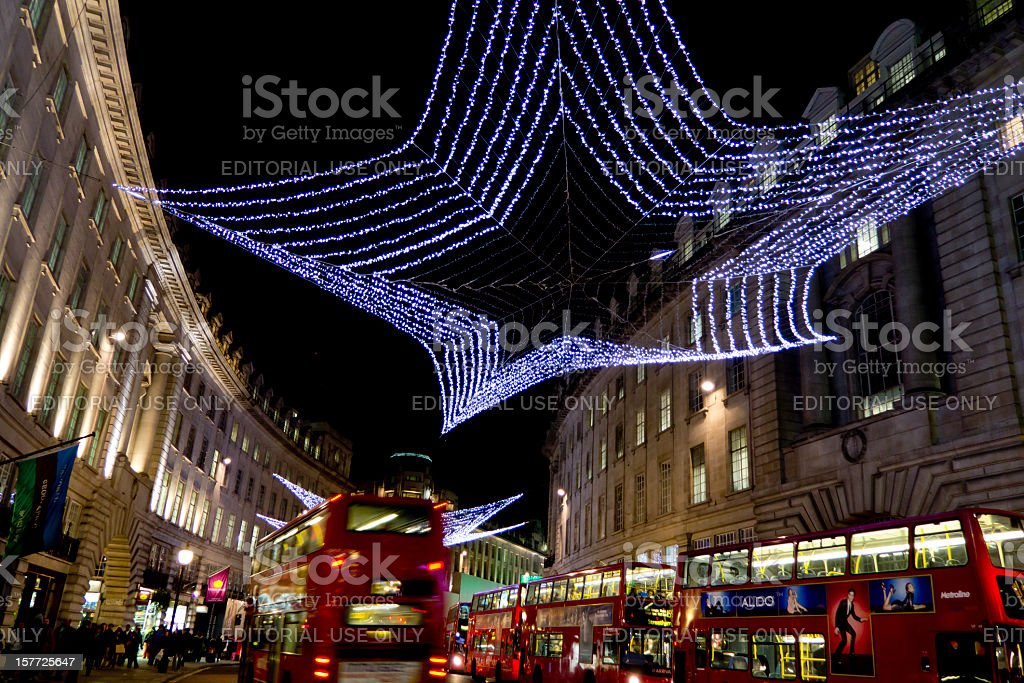 Regents Street Christmas Lights - London 2011 royalty-free stock photo